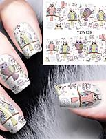 Мультфильм Сова ногтей вода отличительные знаки переноса ногти наклейки родилась довольно