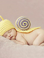 Newborn Prince Vintage Photography Prop Birthday Snail Knitting Hat (0-6Month)
