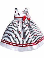 Vestido Chica de-Fiesta/Cóctel-A Rayas-Algodón / Poliéster / Nailon / Otros-Verano / Primavera / Otoño-Blanco