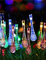 Solar Christmas Lights Water Drop 13ft 20 LED Waterproof Solar Light String Outdoor for Gardens,Wedding,Christmas Tree