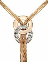 Halsband Hänge Halsband Smycken Party Toffsar Guldpläterad Gyllene 1st Present