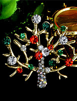 Fashion Austrian Crystal Christmas Brooch Santa Claus Snow Skiing Brooch Xmas Brooches For Women female
