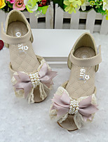 Girl's Sandals Summer PU Casual Flat Heel Bowknot Pink Beige Others