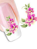Seductive Flowers Nail DIY Art Stickers Water Transfers Decals Nail Art Sticker Tip Decal Manicure