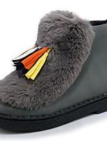 Boty-Lakovaná kůže Koženka-Platformy Pohodlné Novinky Kovbojské Sněhule Jezdecké boty-Dámské-Černá Růžová Bílá Šedá-Svatba Outdoor