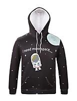 Inspired by3D Astronaut Long Sleeve  Hoodie Cosplay Hoodies Print Long Sleeve Coat Clothing Round Halloween