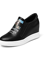 Women's Loafers & Slip-Ons Fall Flats Leatherette Casual Flat Heel Others Black White Hiking Walking