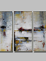 IARTS 3 Panels Paintings Modern Abstract Artwork Framed WIth Stretcher 30x60cm x3 Sets