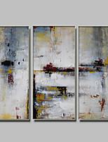 Handgemalte Abstrakt / Fantasie Ölgemälde,Modern / Klassisch Drei Paneele Leinwand Hang-Ölgemälde For Haus Dekoration