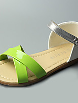 Girl's Sandals Summer Sandals / Open Toe Leatherette Casual Flat Heel Others Green / Red Others