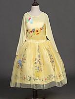 Mädchen Kleid-Lässig/Alltäglich Blumen Acryl Ganzjährig Weiß