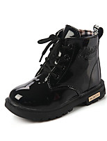 Girl's Sneakers Spring / Fall Comfort PU Casual Flat Heel  Black / Yellow / Pink / Peach Others