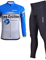 KEIYUEM® Cycling Jersey with Tights Unisex Long SleeveBreathable / Thermal / Warm / Quick Dry / Wearable / Compression / 3D Pad /