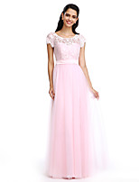 TS Couture® Formal Evening Sheath / Column Scoop Floor-length Lace/Tulle