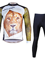 Ilpaladin Sport Men Long Sleeve Cycling Jerseys Suit CT706 Lion