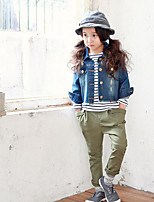 Girl's Casual/Daily Solid PantsCotton Summer / Spring Green