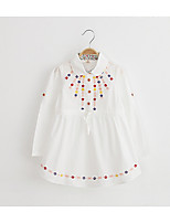 Girl's Casual/Daily Print DressCotton / Rayon Spring / Fall White