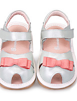 Girl's Sandals Summer Sandals Leather Casual Flat Heel Bowknot Blue / Gold Others