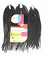Senegal Twist Dark Brown Color 2 Synthetic Hair Braids 12inch Kanekalon 81 Strands 125g  Multipal Pack for Full Heads