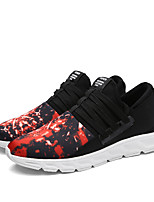 Men's Sneakers Spring / Fall Comfort Cowhide Casual Flat Heel  Black / Red / Gray Sneaker