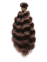 1PC TRES JOLIE Deep Wave 10-20Inch Color #4 Medium Brown Human Hair Weaves