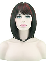 High Temperature Wire Straight Hair Black Hair Wigs Female Red