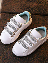 Girl's Sneakers Spring / Fall Comfort / Round Toe  Casual Flat Heel Magic Tape White Others