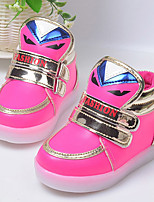 Girl's Sneakers Winter Comfort / Round Toe PU Casual Flat Heel Magic Tape Blue / Green / Pink / Peach Others