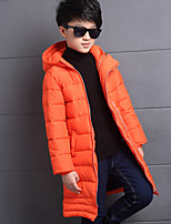 Boy's Casual/Daily Solid Down & Cotton PaddedCotton / Rayon Winter / Spring / Fall Black / Orange