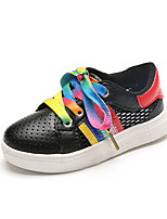 Boy's Flats Summer Comfort / Round Toe PU Casual Flat Heel Others / Lace-up Black / White Walking