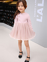 Girl's Casual/Daily Solid Dress / Clothing SetCotton Summer Pink / Gray