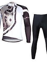 PALADIN® Fahrradtrikots mit Fahrradhosen Herrn Langärmelige FahhradAtmungsaktiv / Rasche Trocknung / UV-resistant / Videokompression /