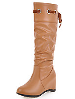 Women's Boots Fall / Winter Fashion Boots / Round Toe Lace / Party & Evening / Dress / Casual Wedge Heel Lace-up