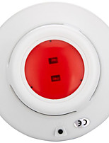 Qi Gang Smoke Detector with DC 9V Battery And Red LED Lights Flashing
