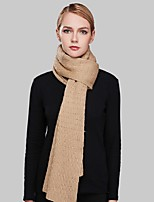 Women Wool ScarfCasual RectangleRed / Black / Green / KhakiSolid