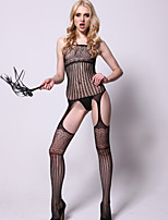 Women Sexy Lingerie Temptation Mesh Printing Design Vulnerabilities Sleeveless Conjoined Stockings Uniforms Temptation
