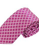 Cravate Vintage / Soirée / Travail / Décontracté Polyester,Homme Rayé,Rose Toutes les Saisons
