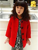 Mädchen Daunen & Baumwoll gefüttert-Ausgehen einfarbig Nylon Winter Rot