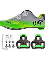 Cycling Shoes Unisex Outdoor / Road Bike Sneakers Damping / Cushioning Green / Gray-sidebike And Lock sheet