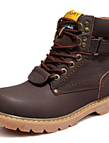 Men's Boots Spring / Fall / Winter Combat Boots Nappa Leather Outdoor / Casual Low Heel Black/Brown/Taupe Sneaker