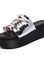 Women's Slippers & Flip-Flops Fall Slippers Cowhide Casual Wedge Heel Others Silver Others