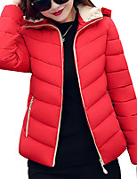 Women's All Match Regular Down Coat Simple Plus Size  Casual Solid Long Sleeve Hooded