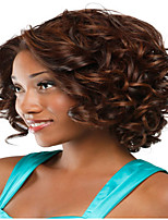 Brown Color Kinky Curly European Synthetic Wigs