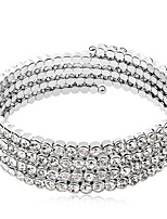 Thousands of colors Bracelet/Bangles Platinum Plated Circle Fashionable Party Jewelry Gift Silver1pc