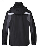 Hiking Softshell Jacket Men's Thermal / Warm / Wearable Winter Terylene Black  /  Camping / Hiking-Sports