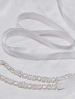 Sateng Bryllup / Fest/aften / Hverdag Sash-Perler Dame 78.75 tommer (ca. 200cm) Perler