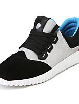 Черный Серый-Мужской-Для прогулок Повседневный Для занятий спортом-Замша-На плоской подошве-Удобная обувь-На плокой подошве