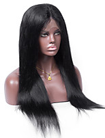 Brazilian Remy Human Hair Natural Color Straight 10-26inches Light Brown Swiss Lace 130% density Full Lace Wig