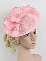 Women's Feather / Net Headpiece-Wedding / Special Occasion Birdal Pink Fascinators 1 Piece
