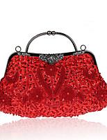 L.west Women Elegant High-grade Lily Handmade Beaded Evening Bag